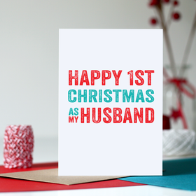 first christmas husband card