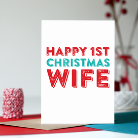 1st Christmas Card as your wife card