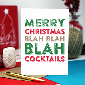Cocktails Christmas greeting card