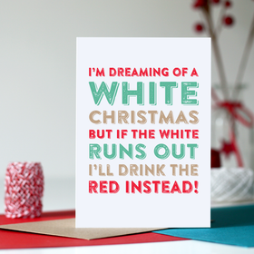 White Christmas funny card