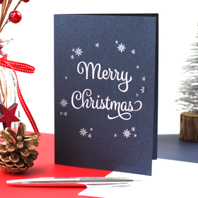 limited edition white foiled christmas card