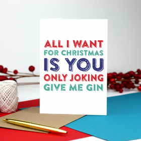 Funny Christmas Gin lovers Card