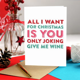 Funny wine Christmas card