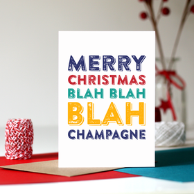 Champagne Christmas card