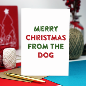 Merry Christmas from the dog card