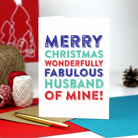 fabulous husband card