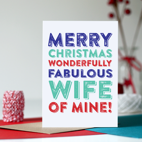 Merry Christmas fabulous wife card
