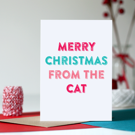christmas card cat