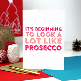 Funny Prosecco Christmas Card box set