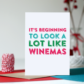 wine funny christmas card