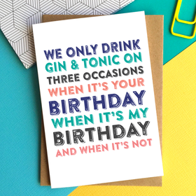 We only drink Gin card