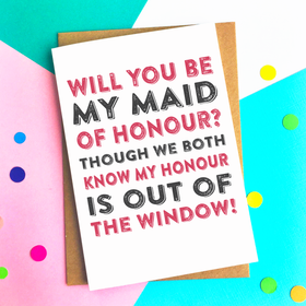 Funny Maid of Honour card
