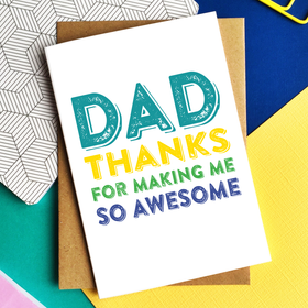 dad awesome card
