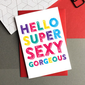 Hello gorgeous card