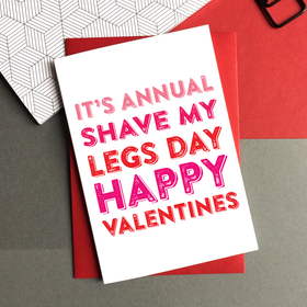 Funny Valentines shave card