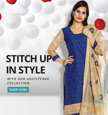 Buy Unstitched dress materials Online in India