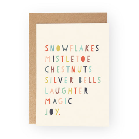 SNOWFLAKES MAGIC JOY  - Greeting Card Pack