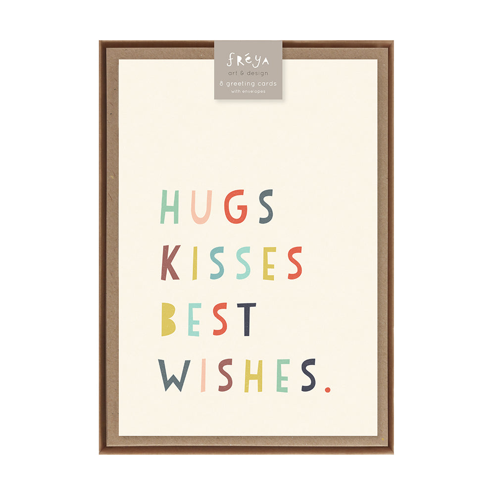 Hugs kisses best wishes greeting card pack freya art design hugs kisses best wishes greeting card pack m4hsunfo