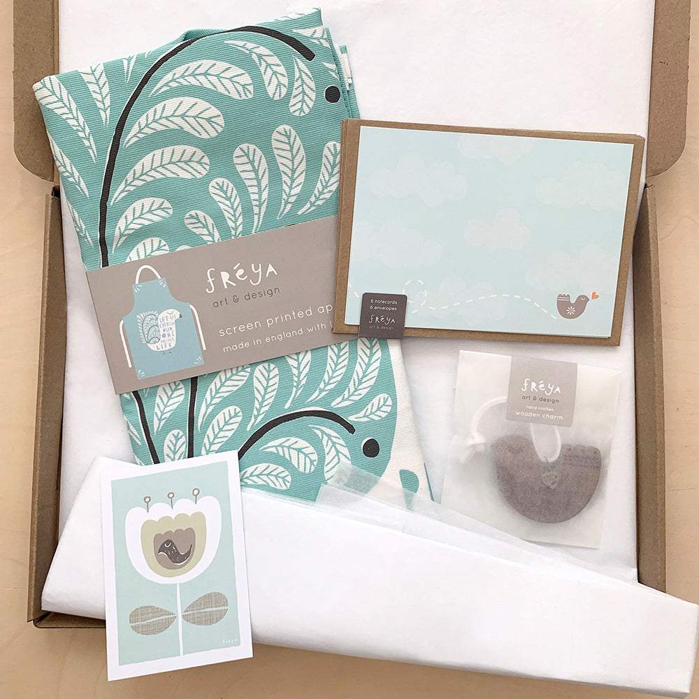Beautiful Blue Gift Box