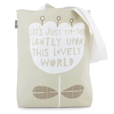 This Lovely World - Bag design - by Freya Art