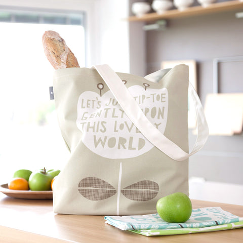 This Lovely World - Bag design in kitchen - by Freya Art