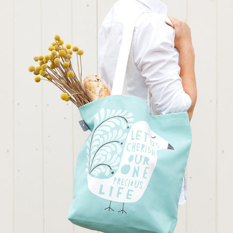 This Precious Life - Bag design on model - by Freya Art