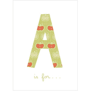 A IS FOR... - Greeting Card - Freya Art & Design