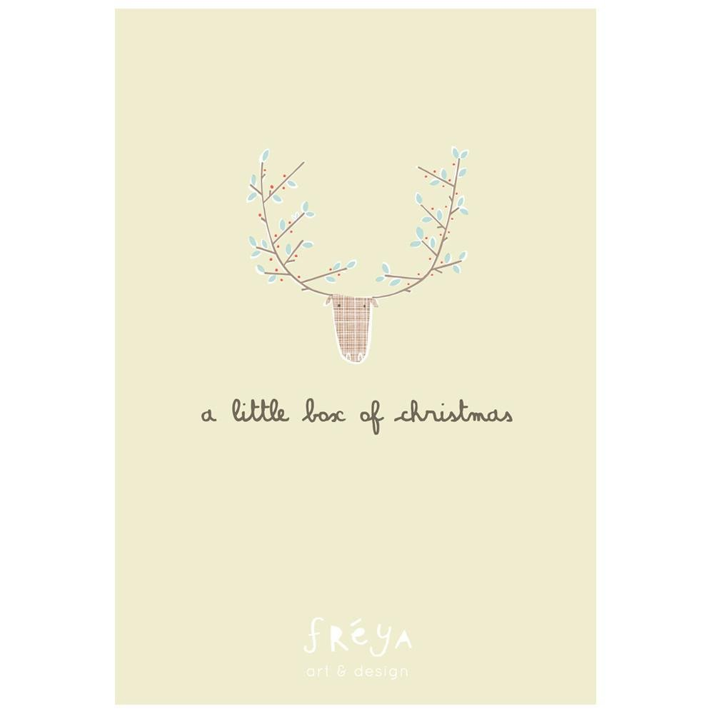A LITTLE BOX OF CHRISTMAS 1 - Greeting Card Pack - Freya Art & Design