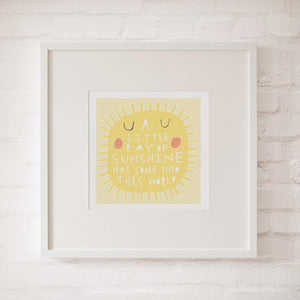 A LITTLE RAY OF SUNSHINE - Fine Art Print - Freya Art & Design