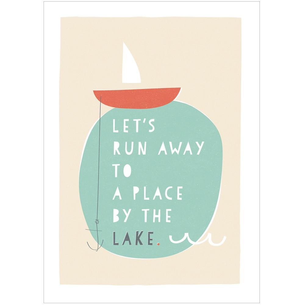 A PLACE BY THE LAKE - Fine Art Print - Freya Art & Design