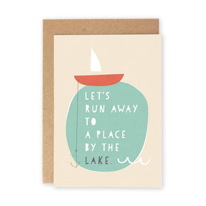 A PLACE BY THE LAKE - Greeting Card - Freya Art & Design