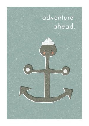 ADVENTURE AHEAD - Greeting Card - Freya Art & Design
