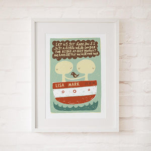ALL THAT WE WILL EVER NEED - Personalised Fine Art Print - Freya Art & Design