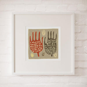 AN EXTRA PAIR OF HANDS - Fine Art Print - Freya Art & Design