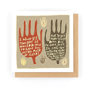 AN EXTRA PAIR OF HANDS - Greeting Card - Freya Art & Design