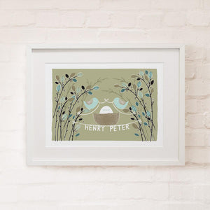 BABY BIRDS - Personalised Fine Art Print - Freya Art & Design
