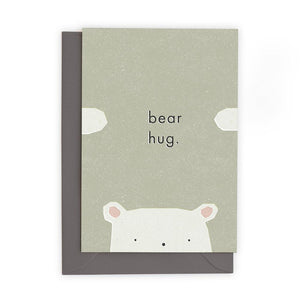 BEAR HUG - Greeting Card - Freya Art & Design