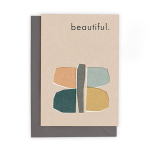 BEAUTIFUL - Greeting Card - Freya Art & Design