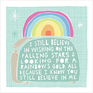 BELIEVE - Greeting Card - Freya Art & Design