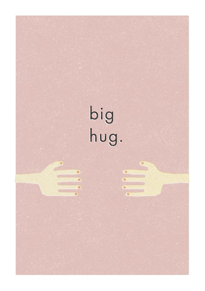 BIG HUG - Greeting Card - Freya Art & Design