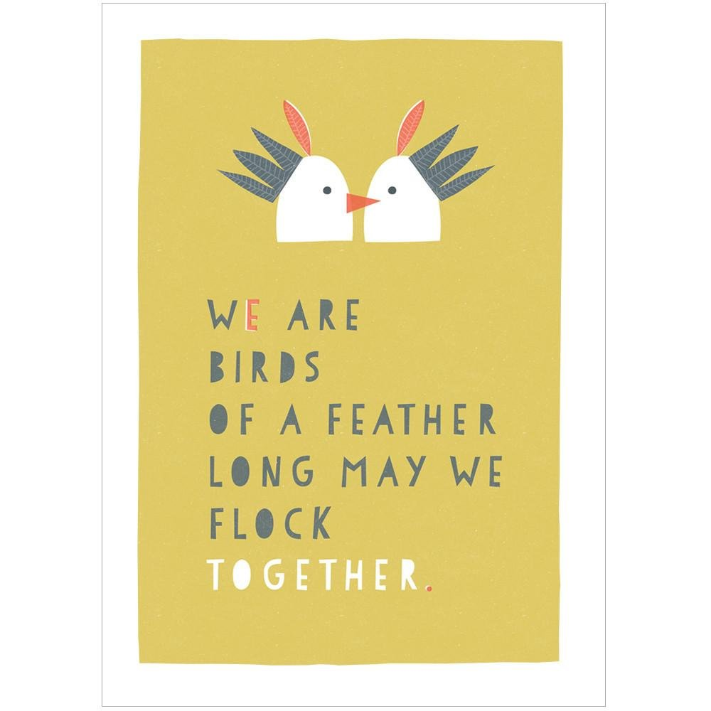 BIRDS OF A FEATHER - Fine Art Print - Freya Art & Design