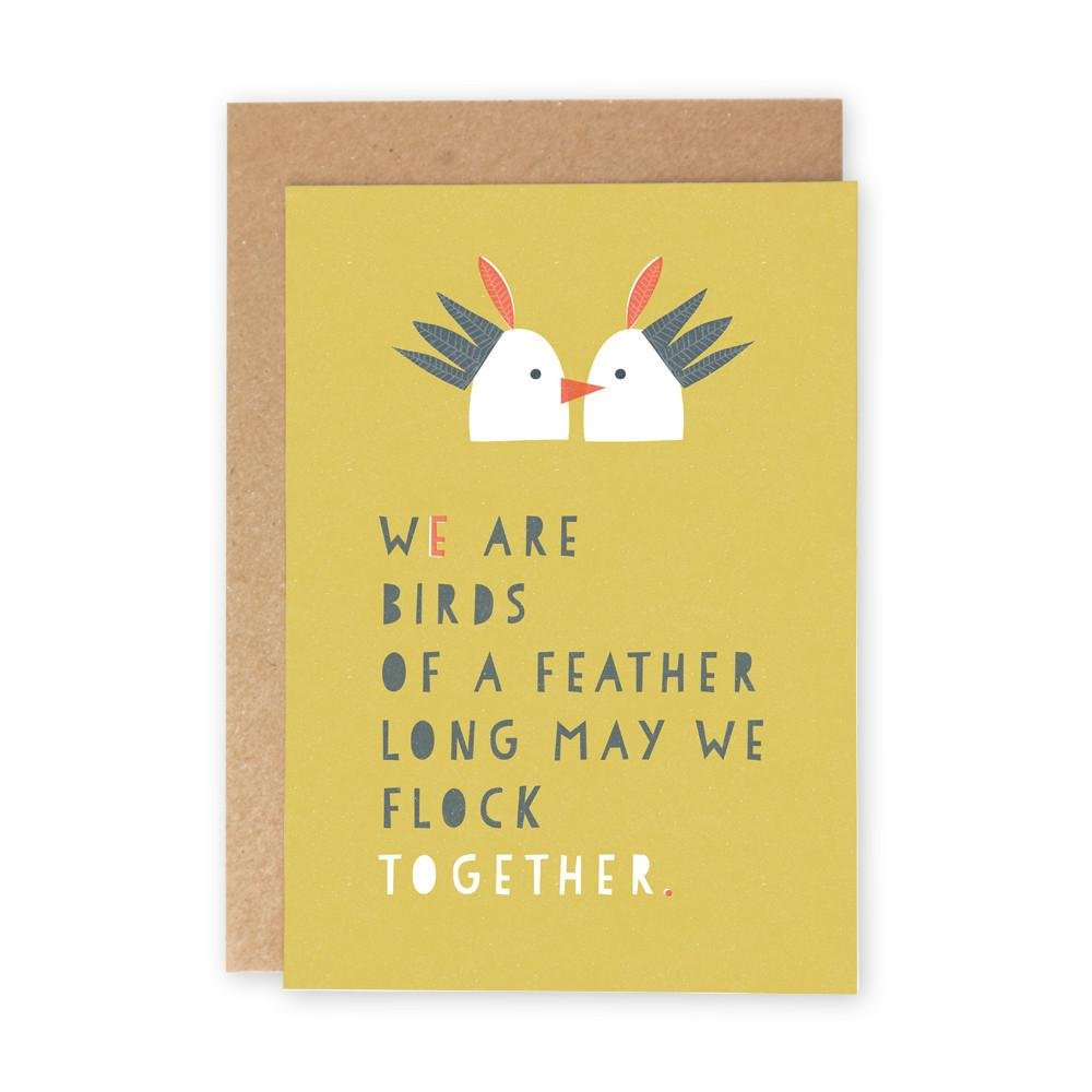 BIRDS OF A FEATHER - Greeting Card - Freya Art & Design