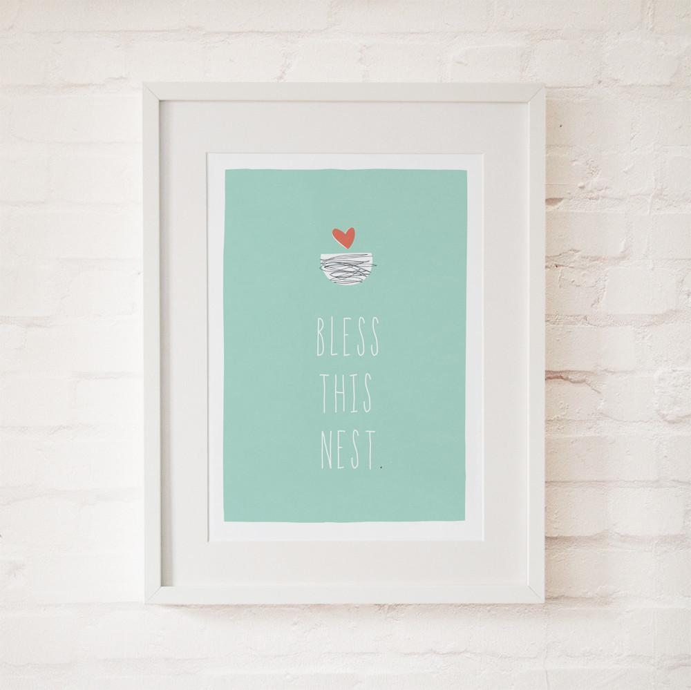 BLESS THIS NEST - Fine Art Print - Freya Art & Design