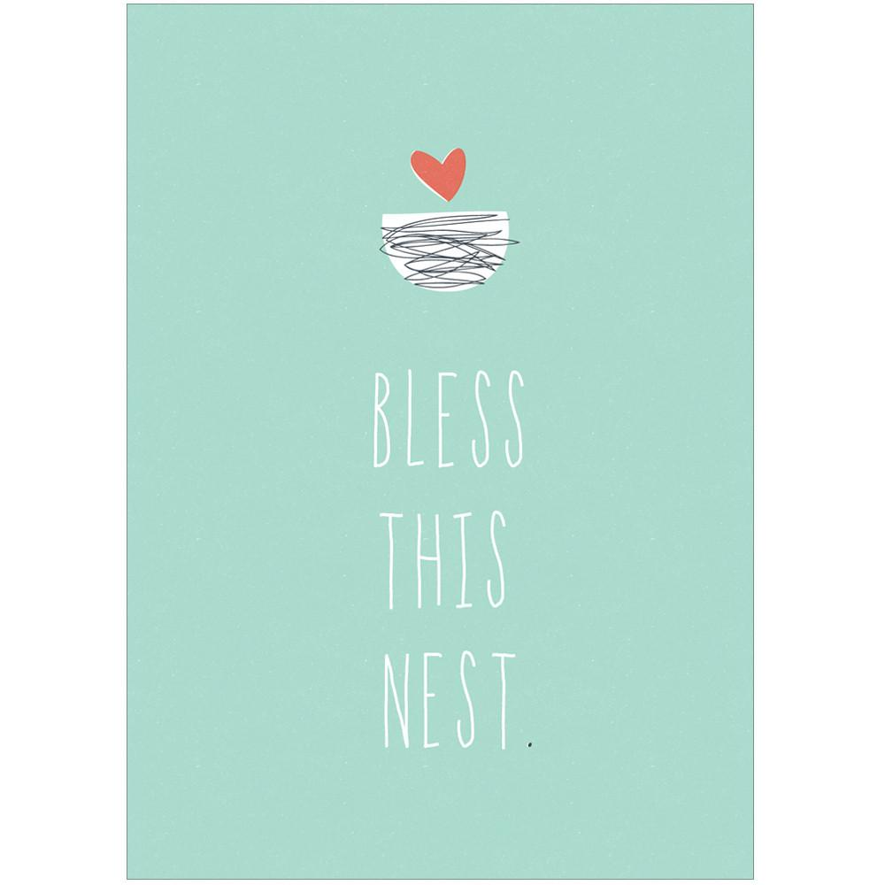 BLESS THIS NEST - Greeting Card - Freya Art & Design