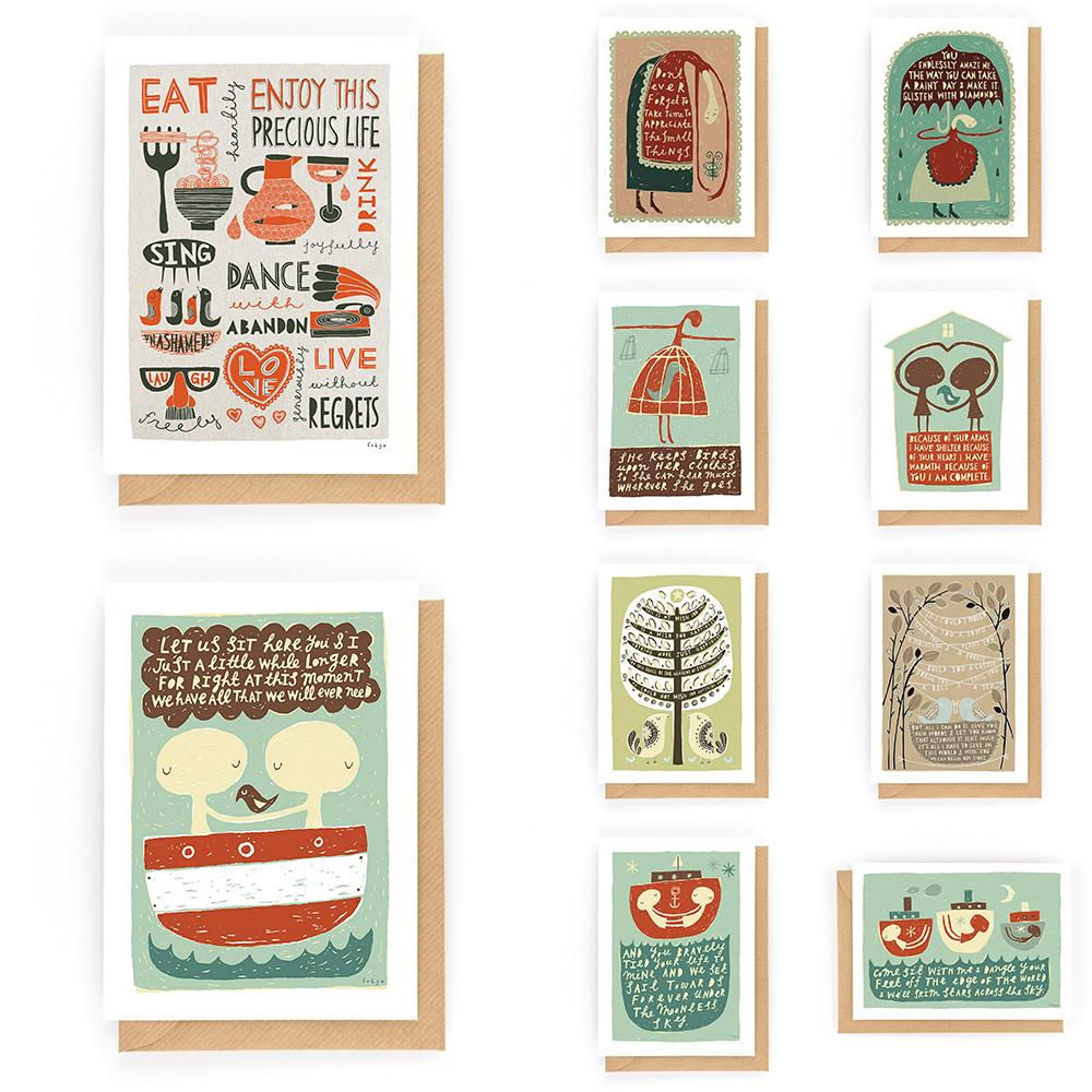 Card Bundle #6 (10 for £10) - Freya Art & Design