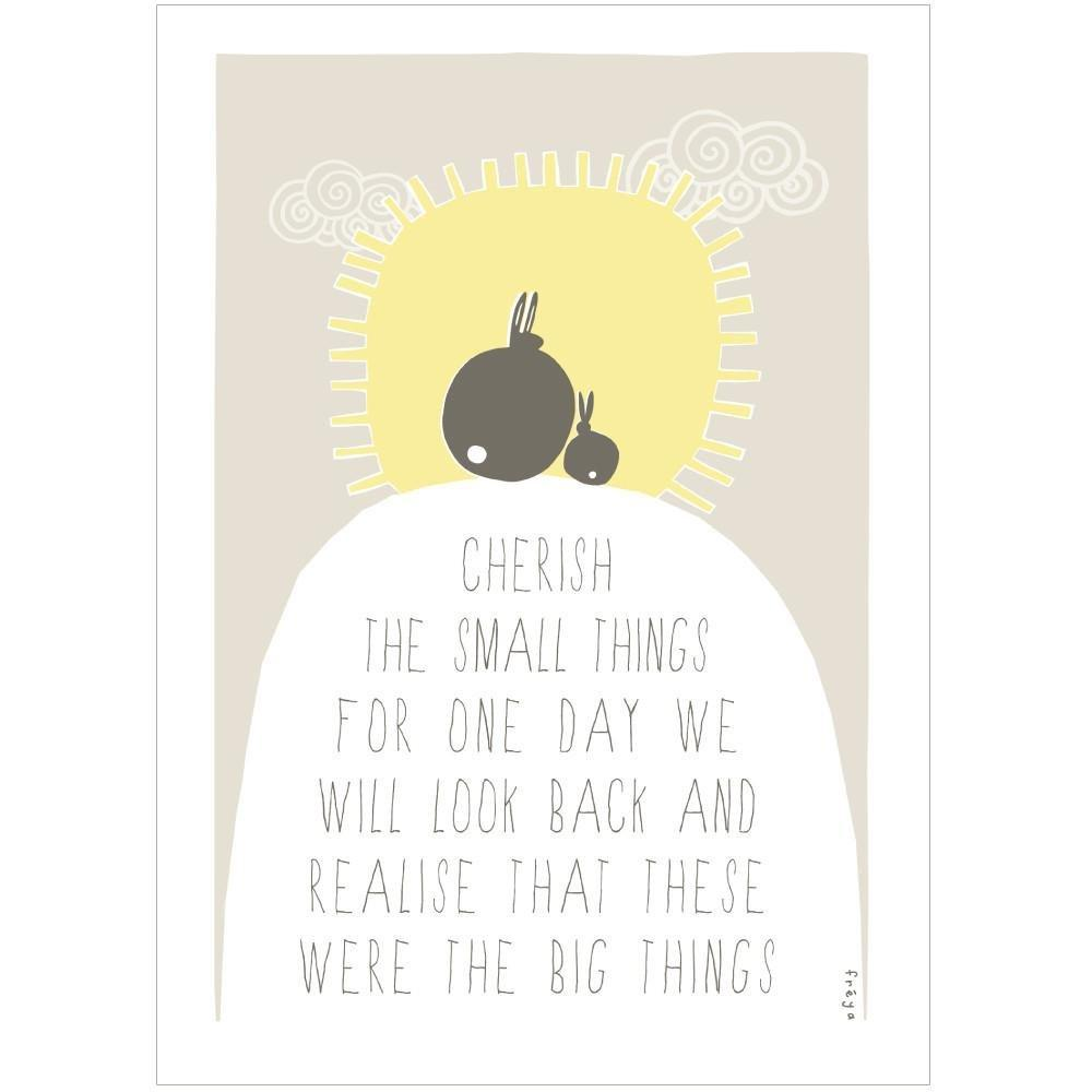 CHERISH THE SMALL THINGS - Greeting Card - Freya Art & Design