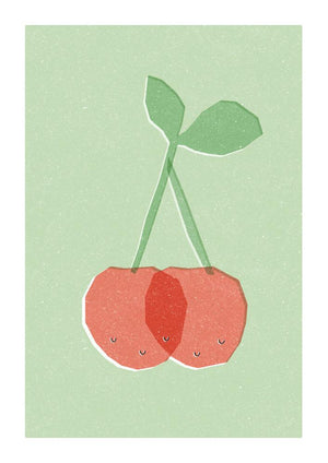 CHERRIES - Greeting Card - Freya Art & Design