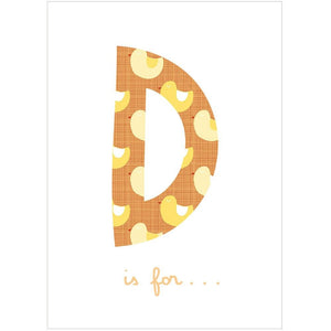 D IS FOR... - Greeting Card - Freya Art & Design