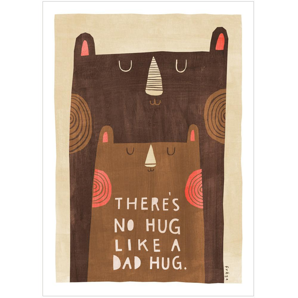 DAD HUG - Greeting Card - Freya Art & Design