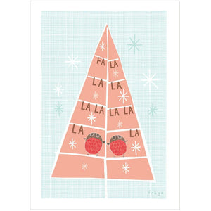 FA LA LA LA LA - Mini Gift Card - Freya Art & Design